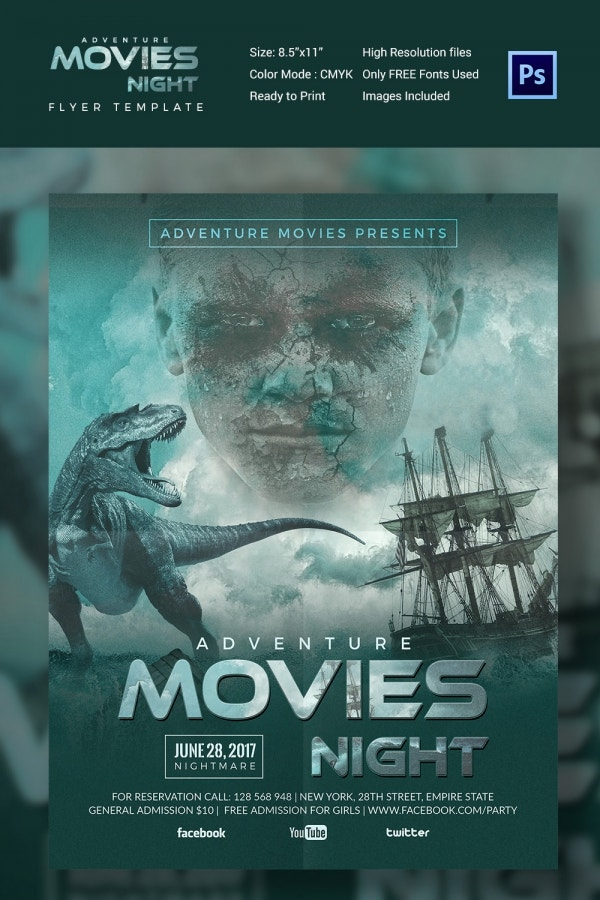 Best Movie Night Flyer Template