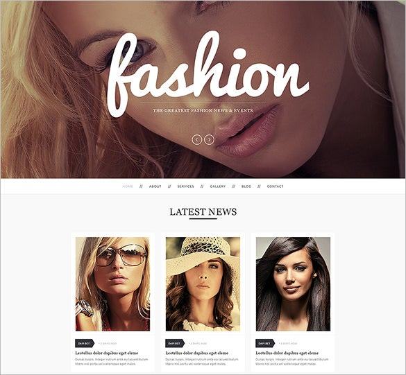 responsive fashion drupal template