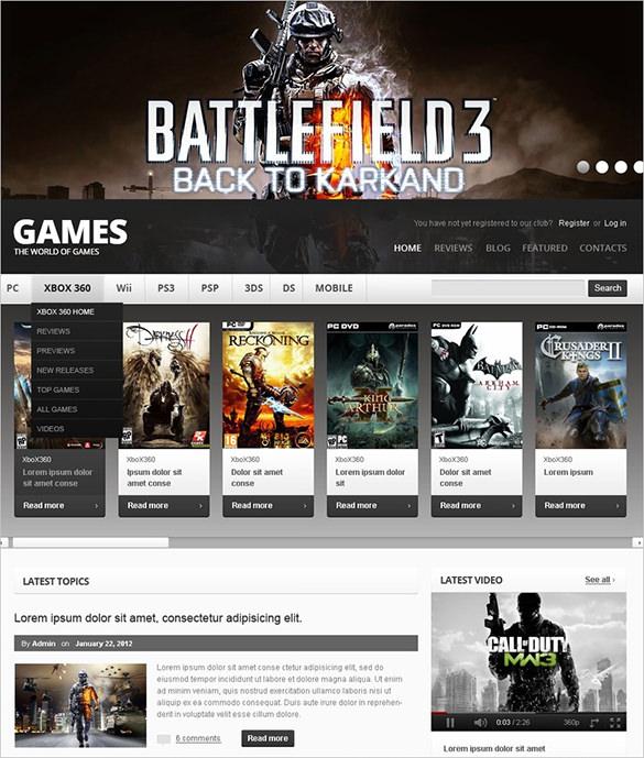 online gaming drupal templat
