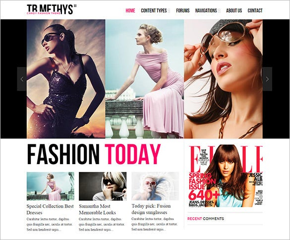 responsive clean design fashion drupal theme