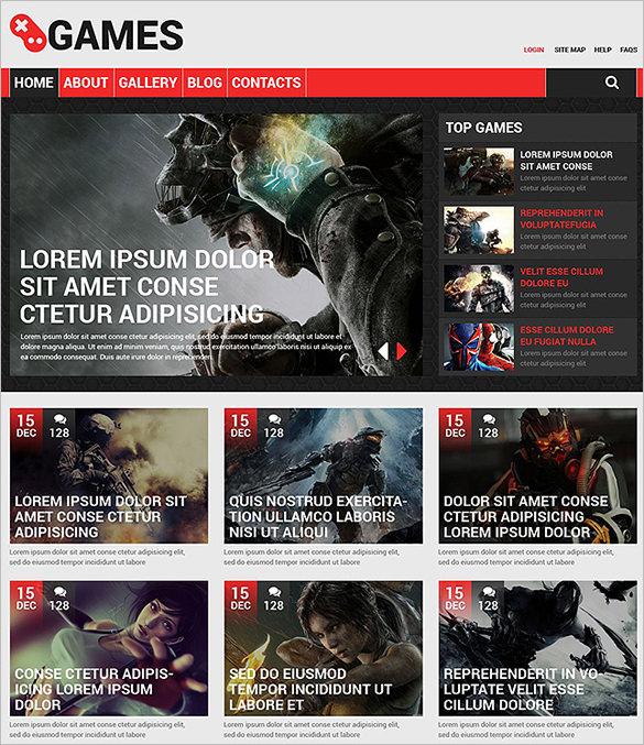 gaming portal responsive drupal template