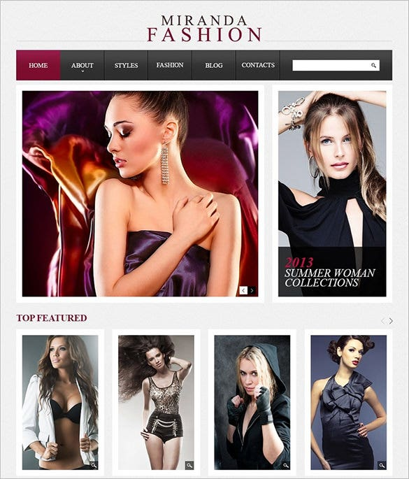 stylish fashion drupal templat