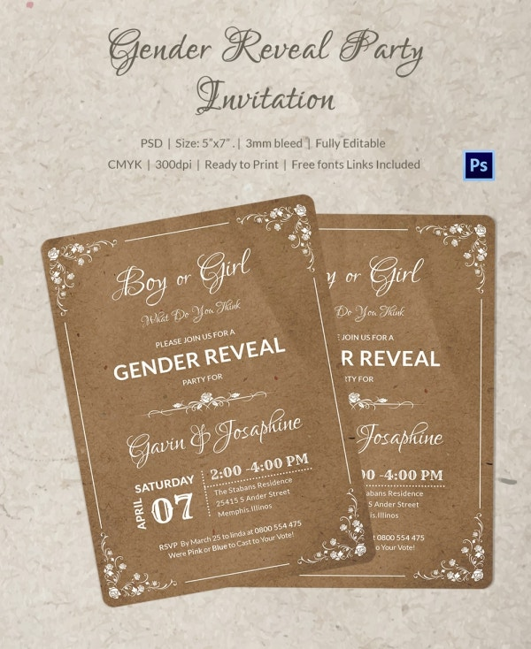 Gender Reveal Party Idea