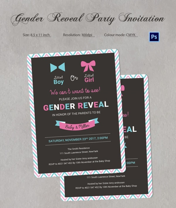 Premium Gender Reveal Party Invitations