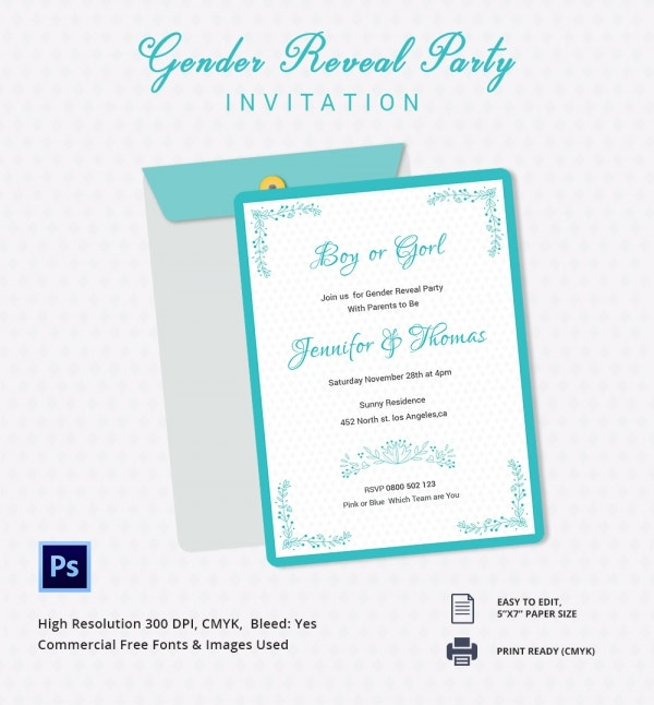 Best Gender Reveal Invitation Template