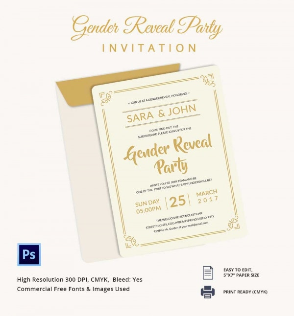 Gender Reveal Invitation Template Download