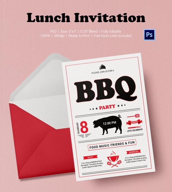 Barbecue Lunch Invitation Template