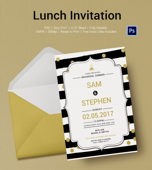 Casual Lunch Invitation Template Download