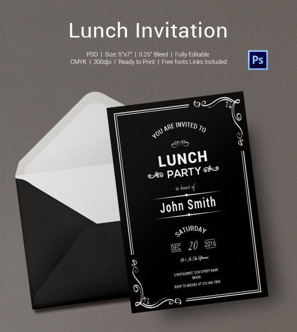 how to write lunch invitation research for essays