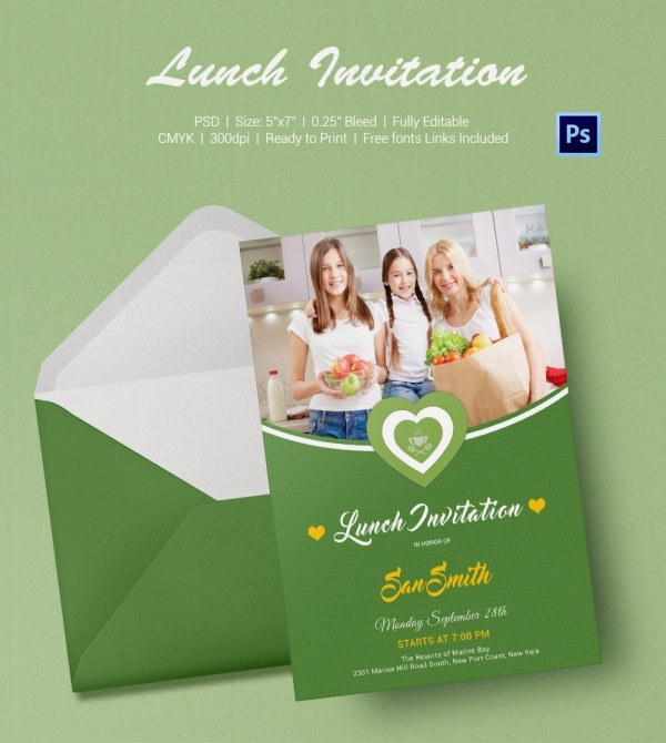 Ladies Lunch Invitation Template