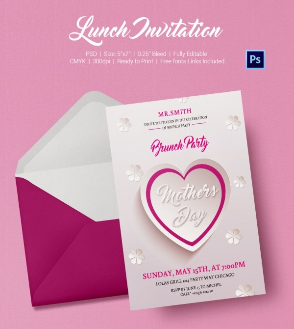 Lunch Invitation Template 25 Free PSD PDF Documents Download – Lunch Invitation Templates