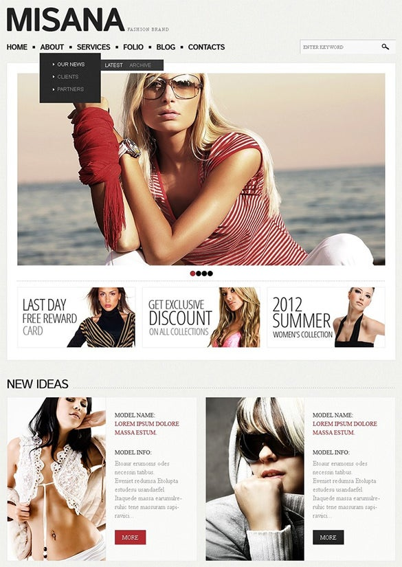 fashion responsive drupal theme
