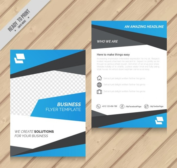 how to make business flyers for free