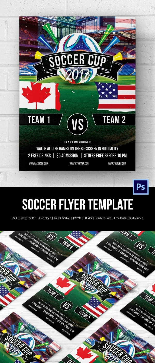 Best Euro Soccer Cup Flyer Template