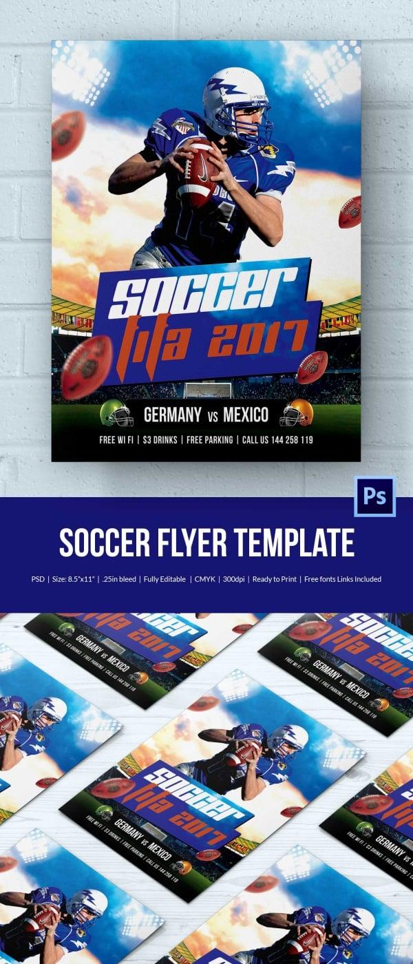 fifa soccer flyer