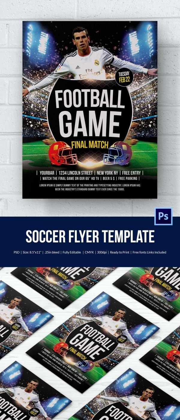 Perfect Soccer Flyer Template