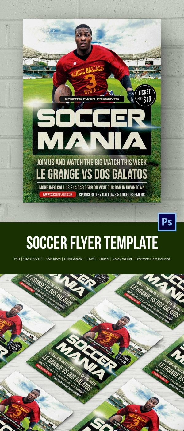 Soccer Flyer Template 37 Free PSD Format Download – Sports Flyers Templates Free