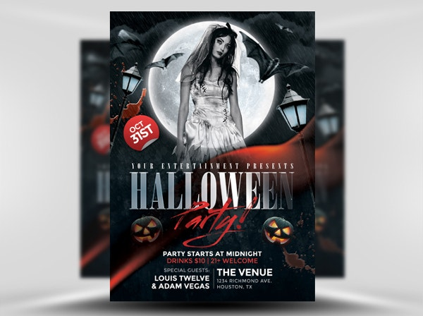 Black Halloween Club Flyer Template