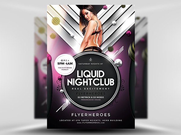 Liquid Nightclub Flyer Template