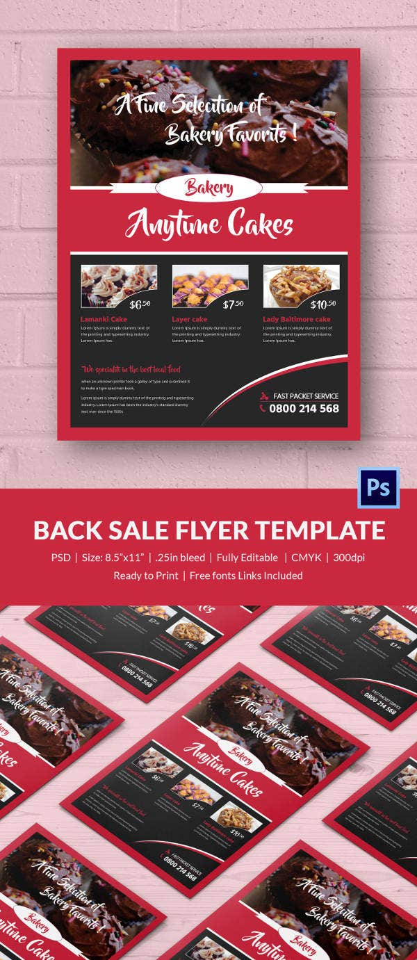 bake flyer template 24 psd indesign ai format customizable bake flyer