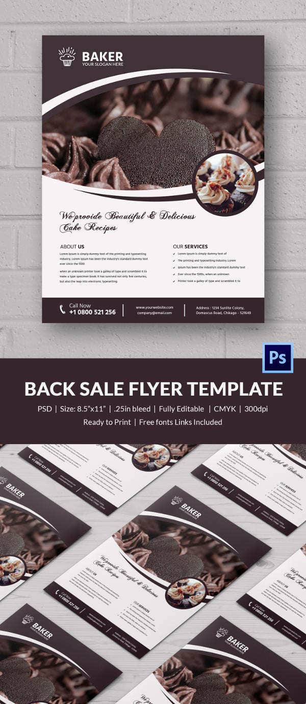bake flyer template 24 psd indesign ai format fresh goodness bake flyer