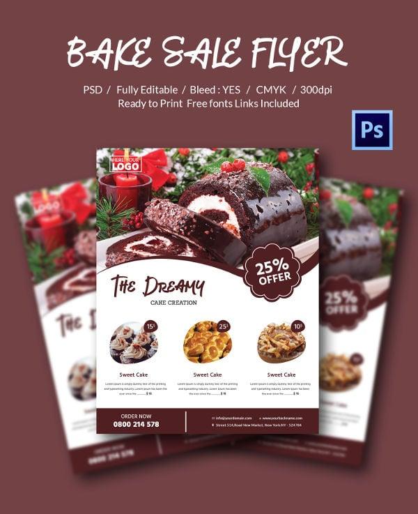 Professional Bake Sale Flyer