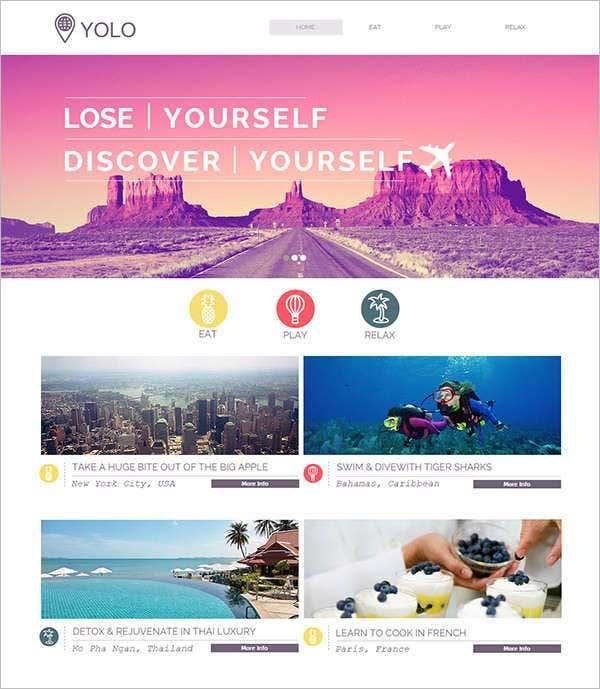 yolo responsive website template with php framewor