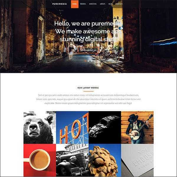 puremedia php free website template11
