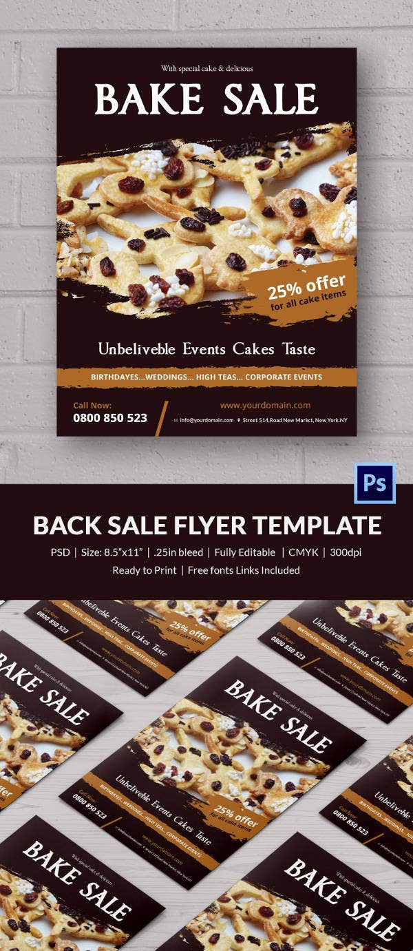 bake flyer template 24 psd indesign ai format small bake flyer
