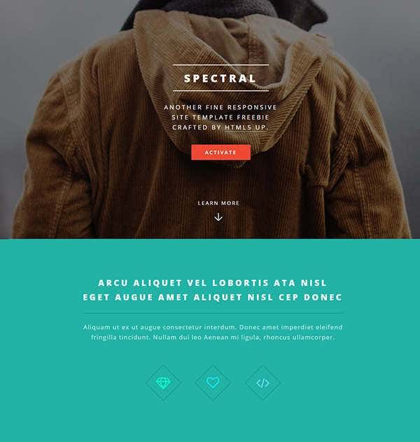 spectral html5 php template11