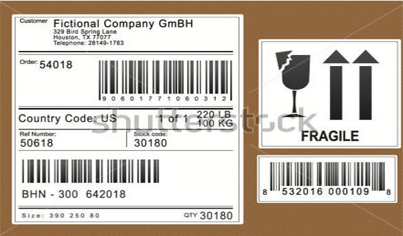 packaging shiping labels download