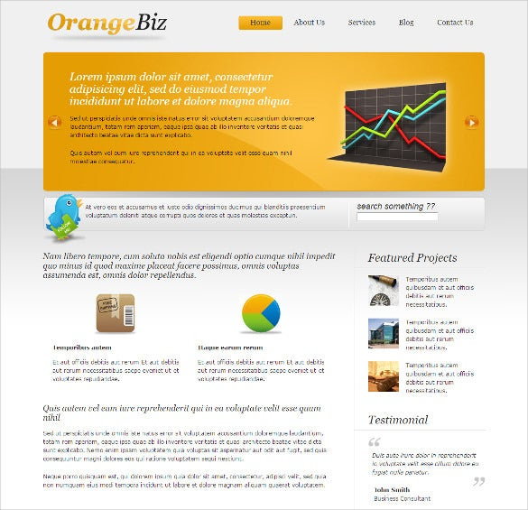biz template orange responsive wordpress themes