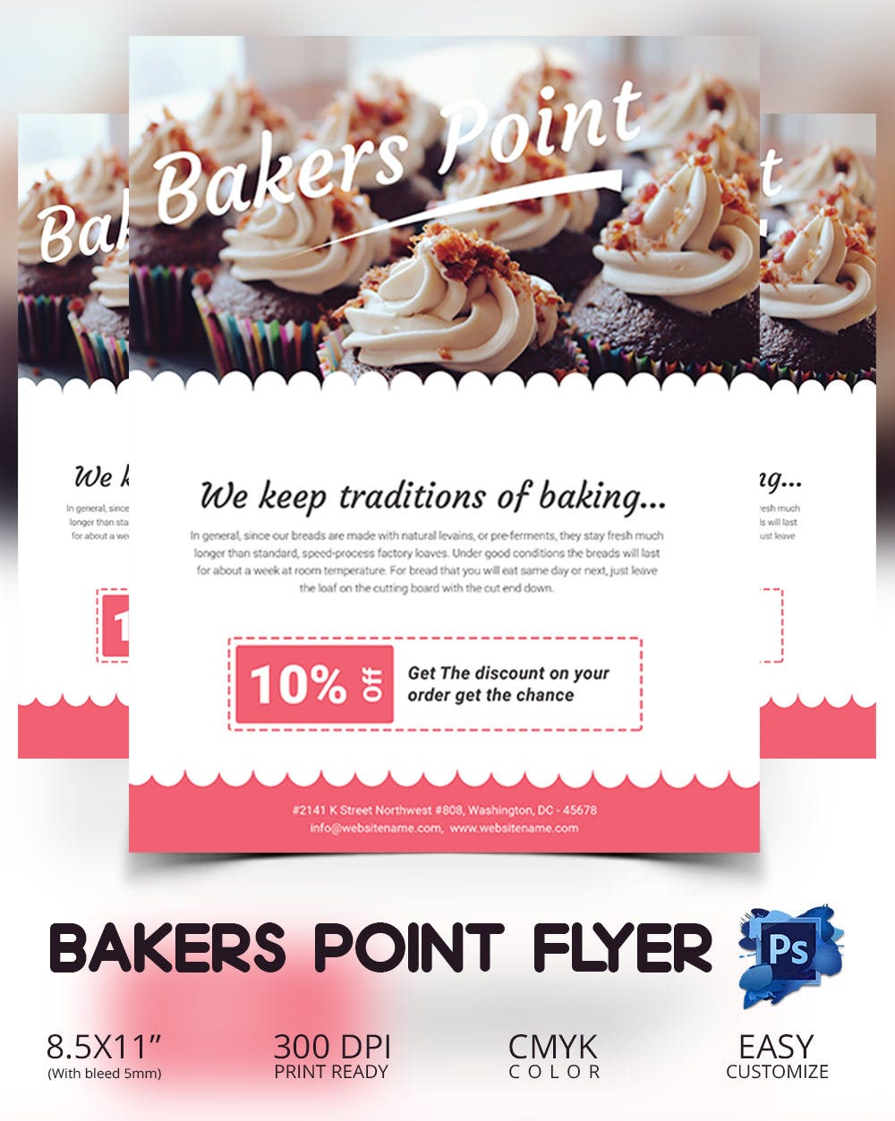 bake flyer psd indesign ai format bakers point flyer template