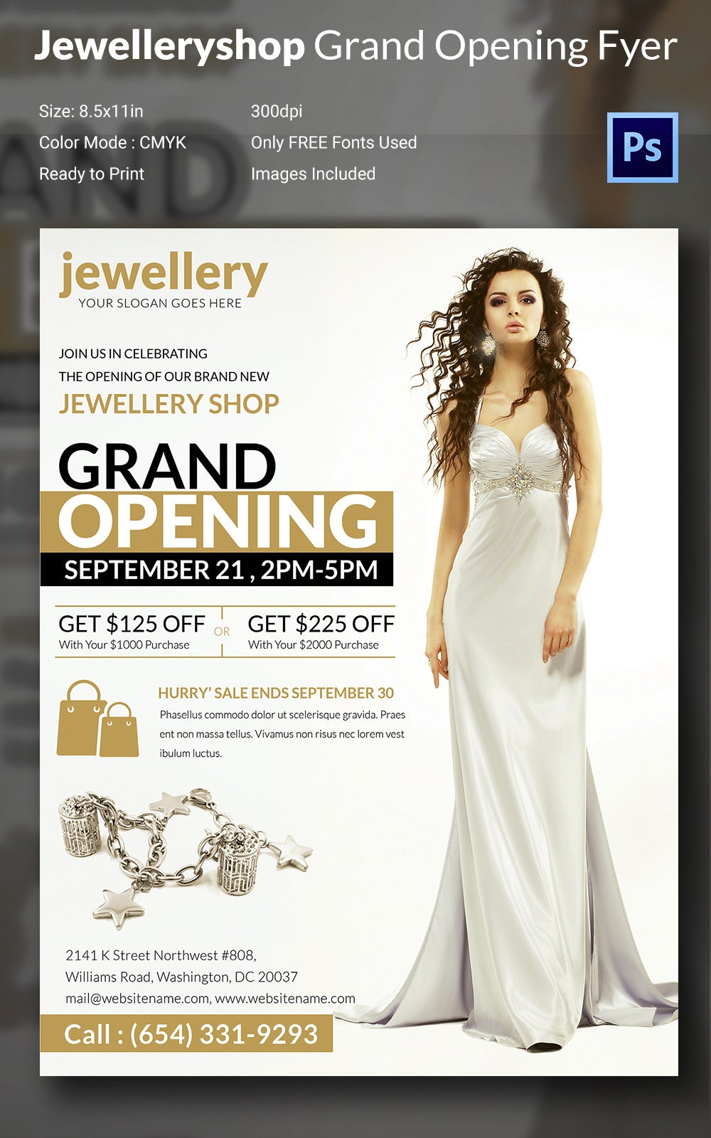 Jewellery Shop Grand Opening Flyer