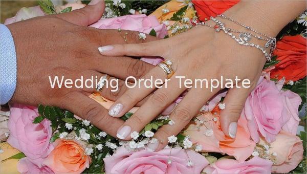 wedding order template