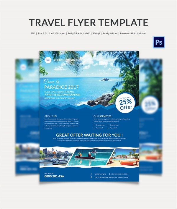 Fresh Travel Flyer Template
