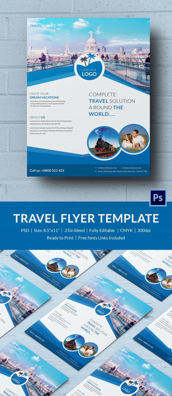 Tourist Travel Flyer Template