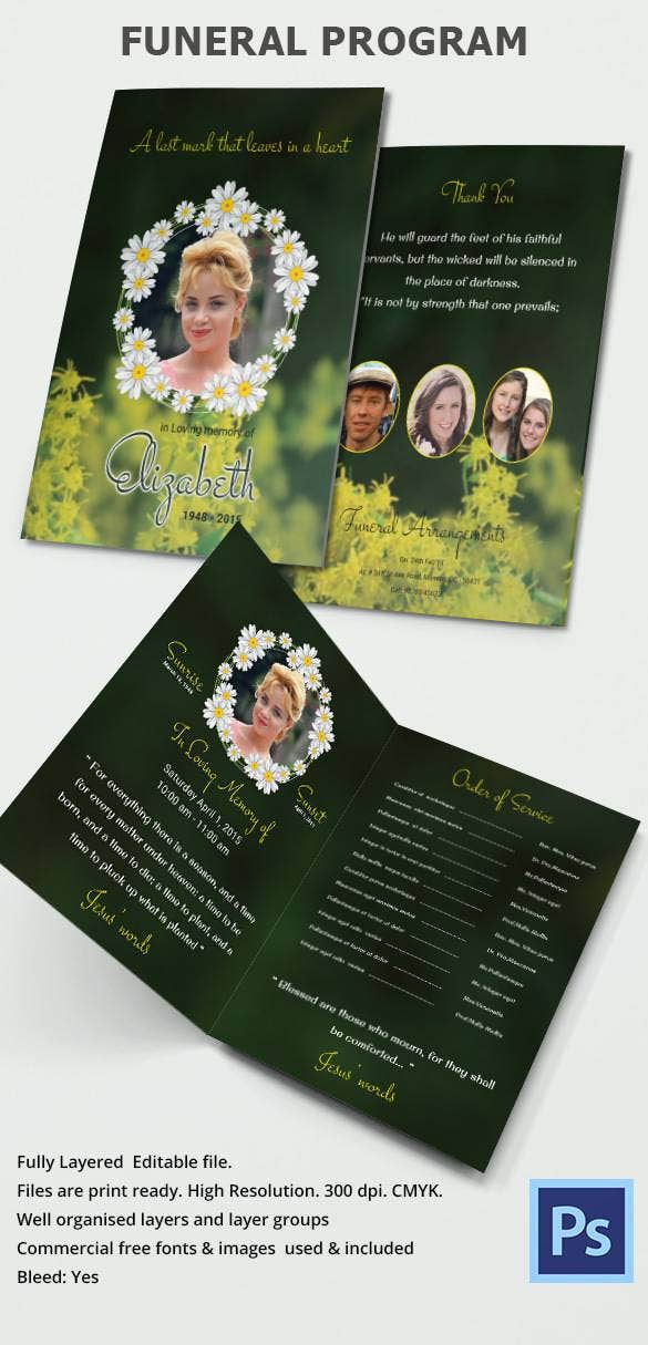 30 funeral program brochure templates free word psd for Program brochure templates