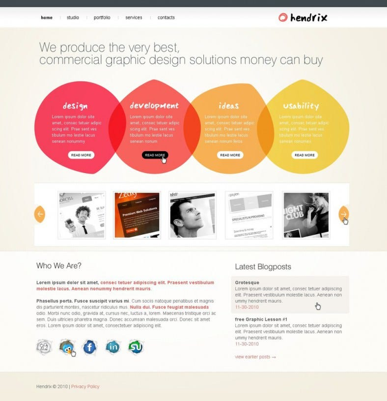 1650px multi color option website template 788x816