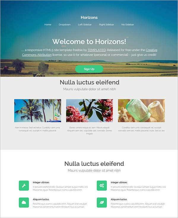 horizons beautiful php website template11