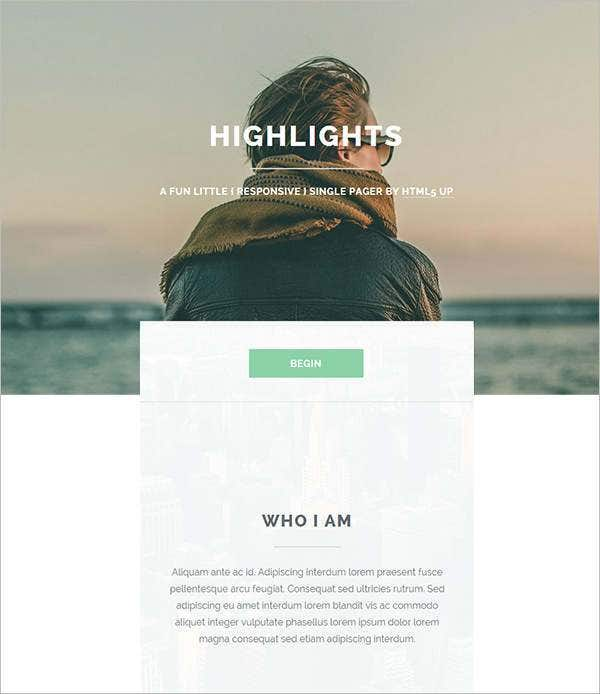 highlights html php website template11