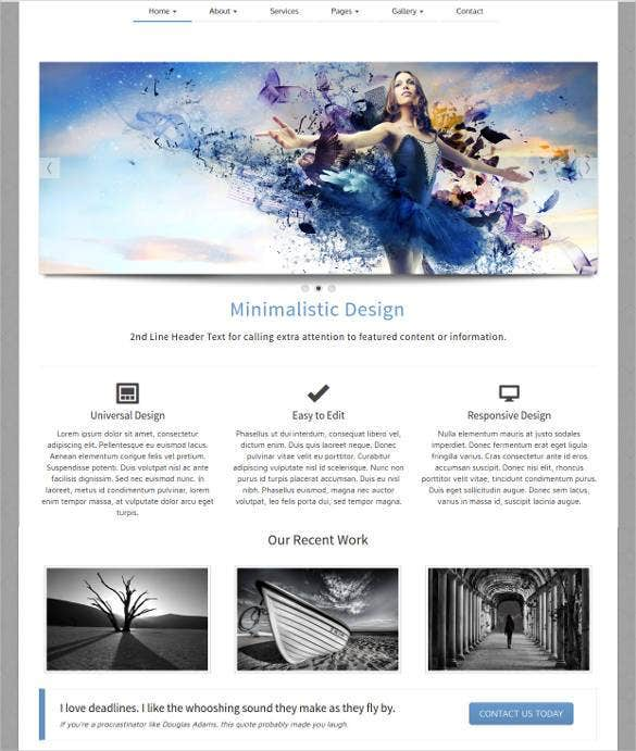 35 free php website templates themes free premium for Free php templates for dreamweaver