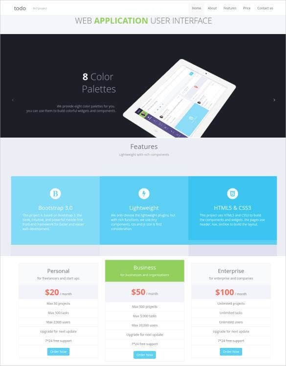 php-web-application-and-admin-panel-template
