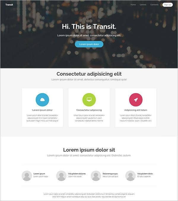 transit php website template111