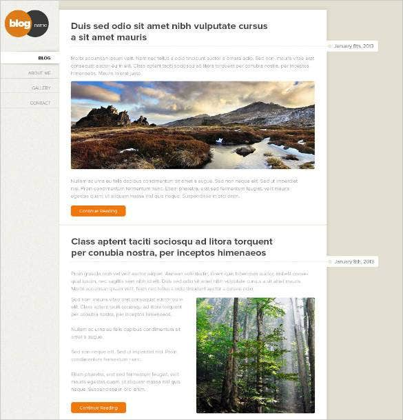 stylish and professional php blogger template with