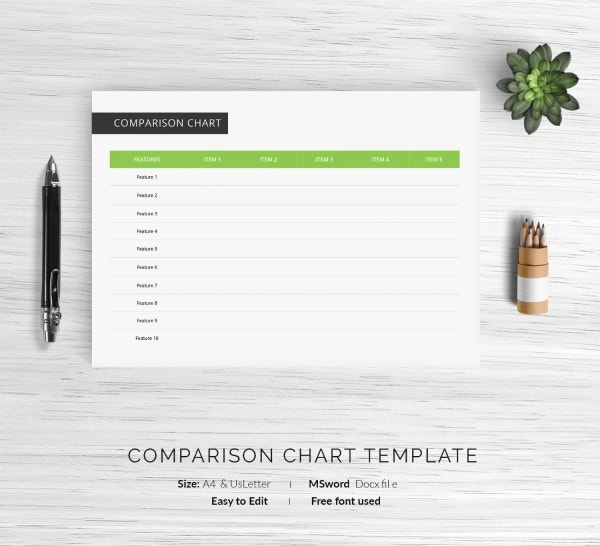 32 Comparison Chart Templates Word Excel Pdf Free