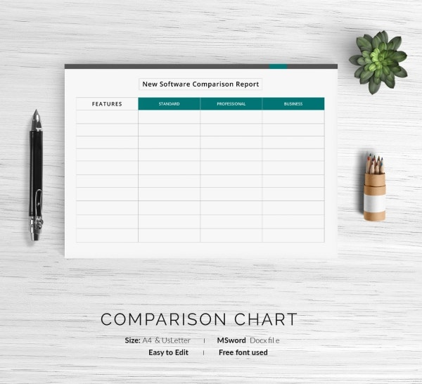 Software Comparison Chart Template