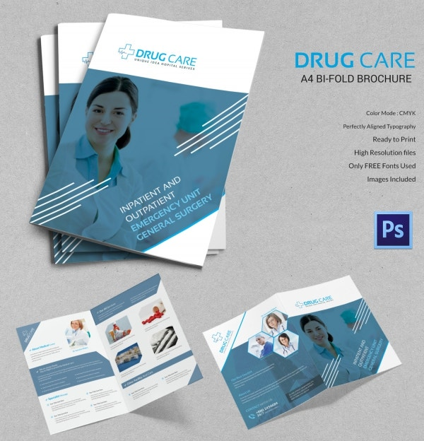 Drug Information Guide Bi Fold Brochure Template