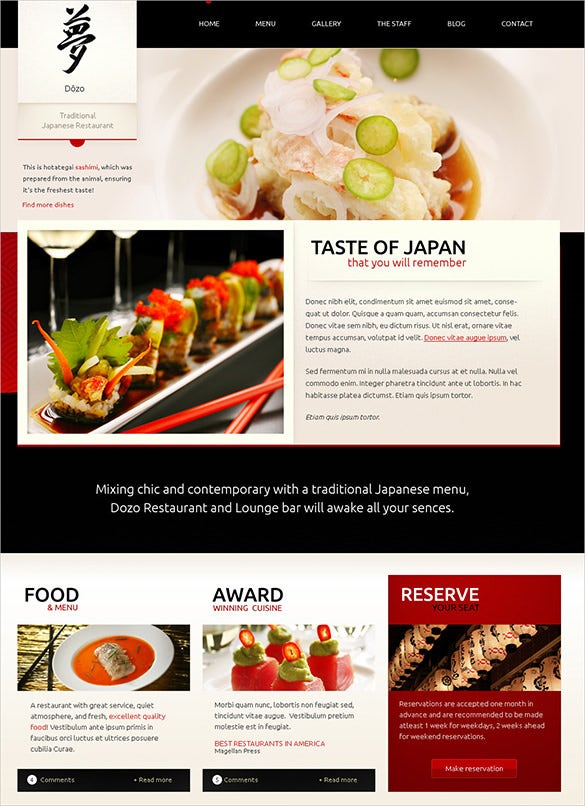 34 restaurant html5 website themes templates free premium