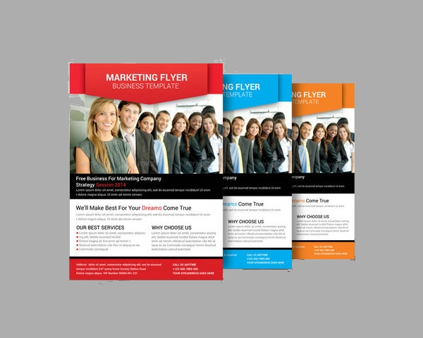 Colourful Marketing Flyer Template  Business Pamphlet Templates Free